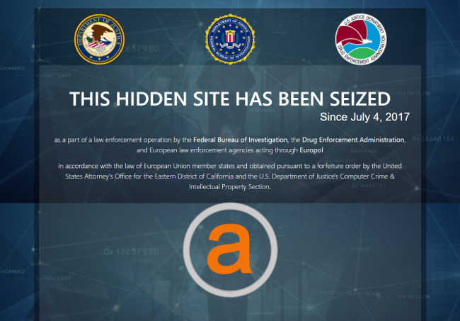 Alphabay takedown notice