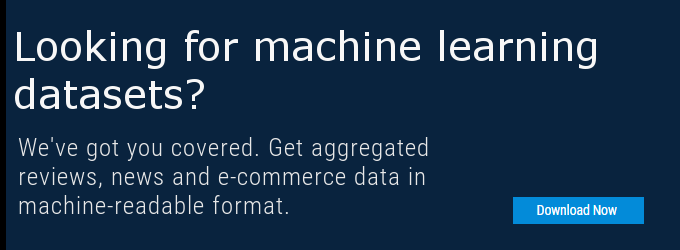 Banner: Get free machine learning datasets