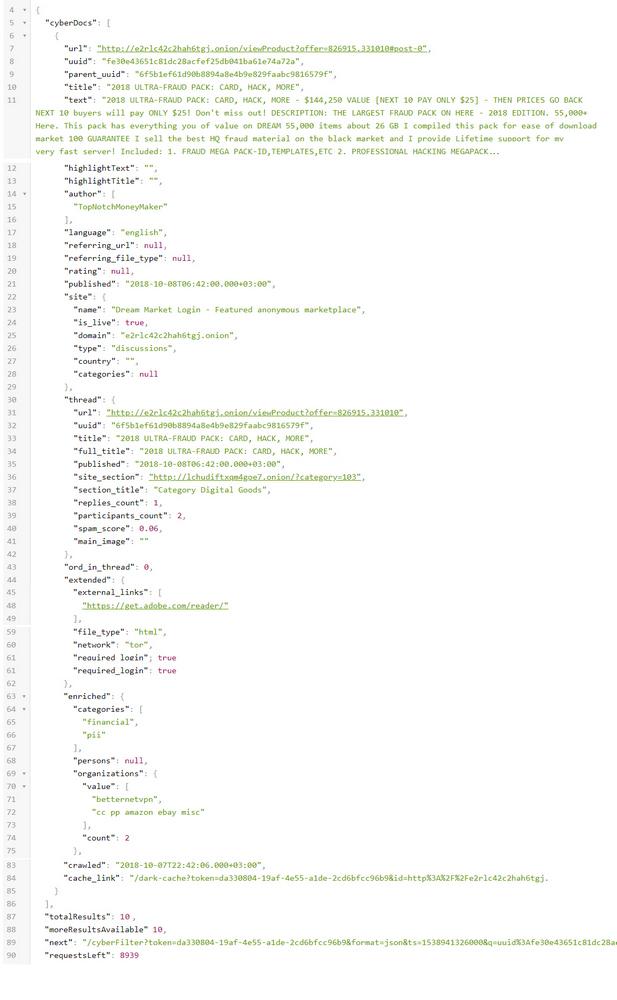 Dark Web Data API | Turn the Darknet into Data Feeds | Webhose