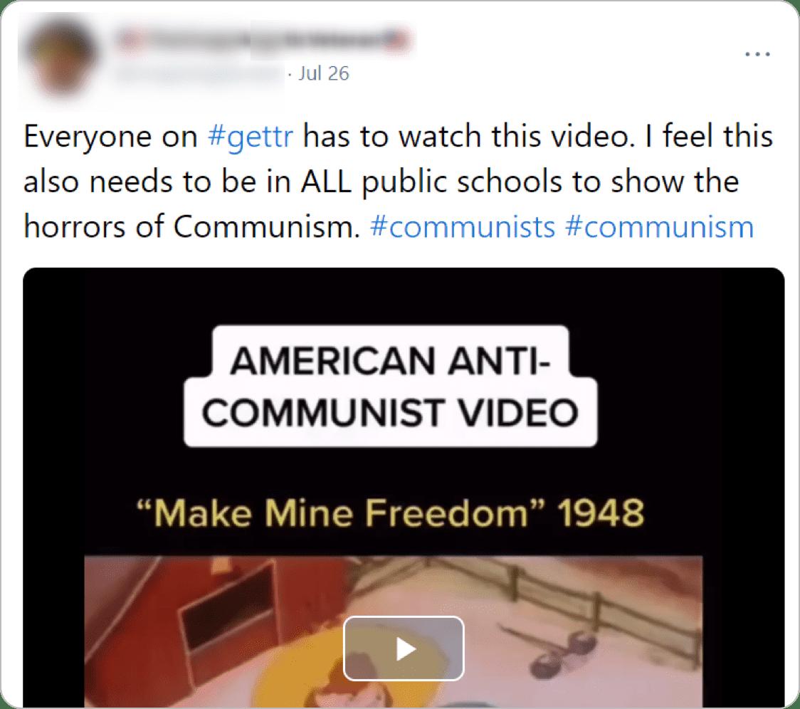 The original anti-communist post